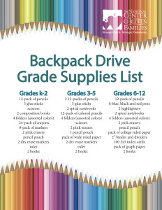 Progressions Salon Spa Store - Backpack Drive List