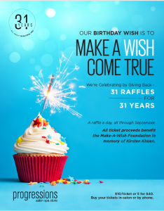 Our Birthday Wish Is To Make A Wish Come True Progressions Salon
