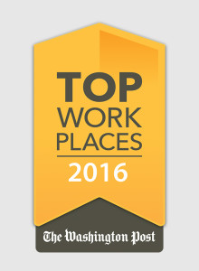 Top Work Places 2016 - The Washington Post