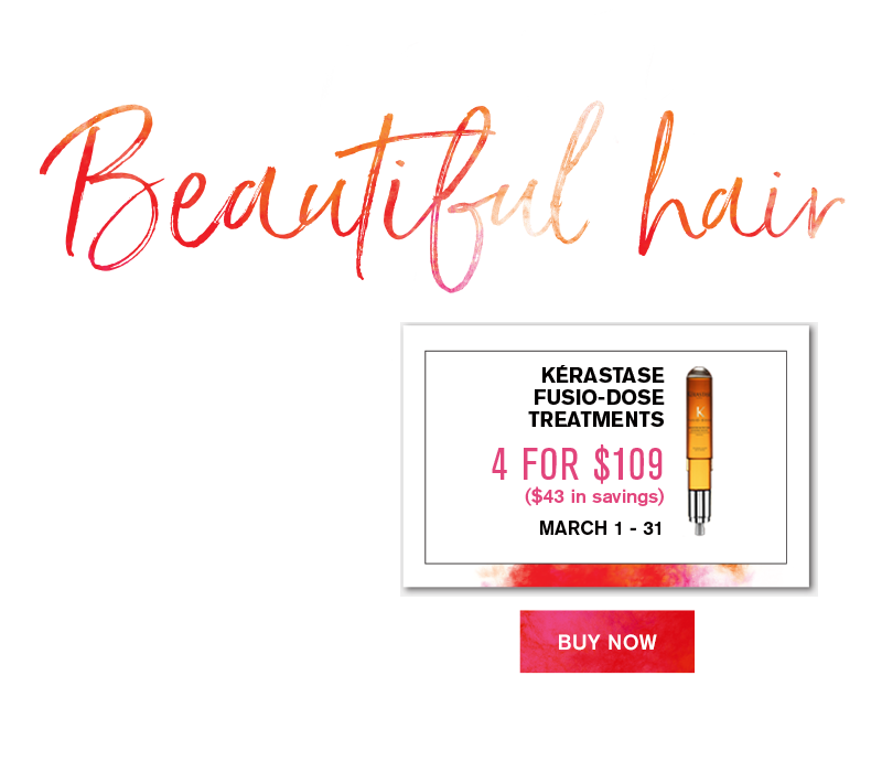 Healthy Hair is Beautiful Hair. Kerastase Fusio-Dose Treatments 4 for $109 ($43 Savings)